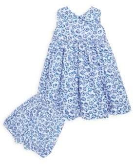 Rachel Riley Little Girl's & Girl's Two-Piece Floral Dress & Bloomers Set