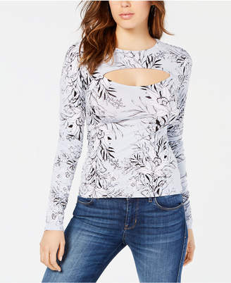 GUESS Lilou Illusion Mock-Neck Top