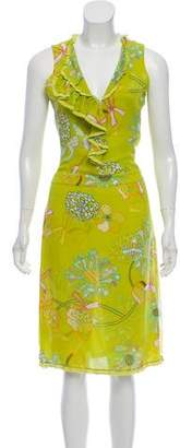 Cacharel Sleeveless Floral Print Dress