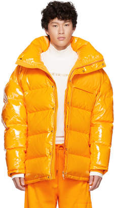Feng Chen Wang Orange Down Puffer Jacket