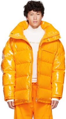 Feng Chen Wang Orange Down Puffer Jacket