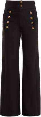 Chloé Tailored wool-blend sailor trousers