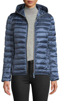 Save The Duck Metallic Hooded Puffer Jacket