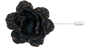 Lanvin patterned flower brooch
