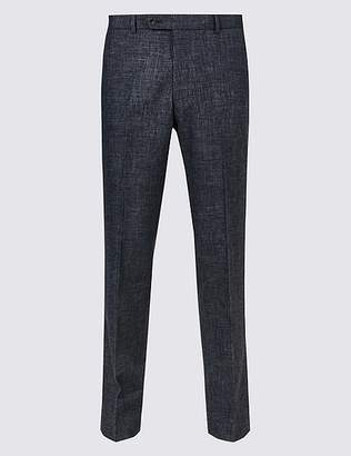 Marks and Spencer Linen Miracle Slim Fit Trousers