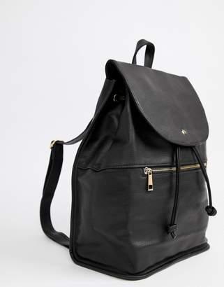 Asos Design DESIGN soft backpack with zip detail