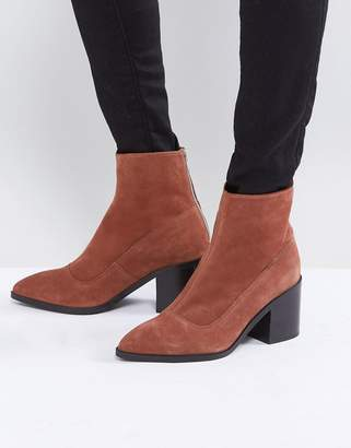Asos ROXANNA Suede Pointed Ankle Boots