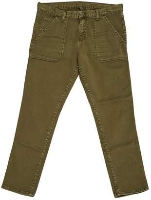 Acquaverde Khaki Cotton Trousers