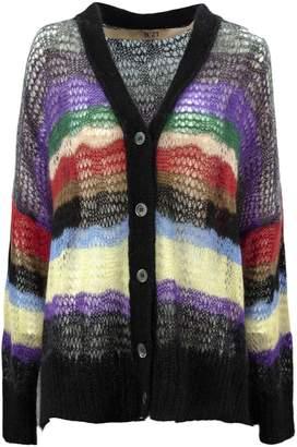 N°21 N.21 Multicolor Mohair Wool Cardigan.