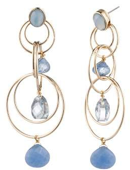 Aqua Floating Stone Link Chandelier Earrings - 100% Exclusive