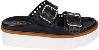 Tod's Punched Hole Double-strap Sandals