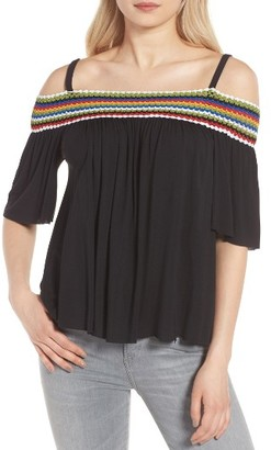 Women's Bailey 44 Guava Off The Shoulder Top $178 thestylecure.com