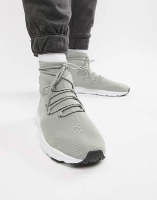 Asos DESIGN sock sneakers in gray with laces