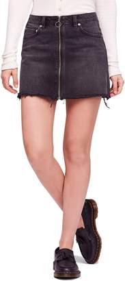 Free People Zip It Up Denim Miniskirt