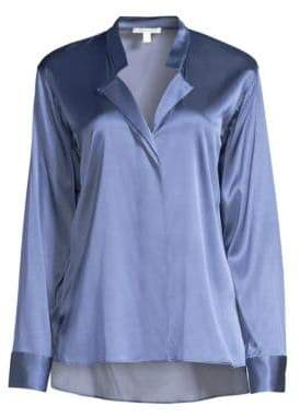BOSS Barinese Silk& Satin Stretch Blouse