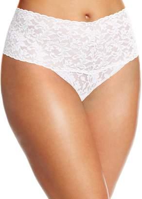 Hanky Panky Women's Plus-Size Retro Thong Panty, White