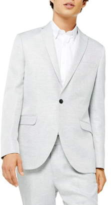 Topman Clay Skinny Fit Twill Suit Jacket