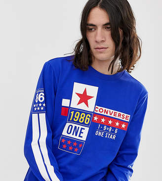 Converse One Star '86 Long Sleeve T-Shirt In Blue Exclusive at ASOS