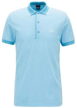 BOSS Hugo Slim-fit polo shirt in Pima-cotton Oxford pique L Turquoise