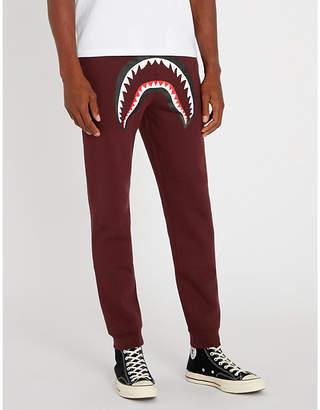 A Bathing Ape Shark-motif cotton-blend jogging bottoms