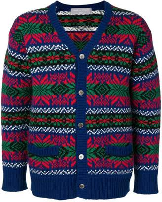 Comme des Garcons PRE-OWNED intarsia buttoned cardigan
