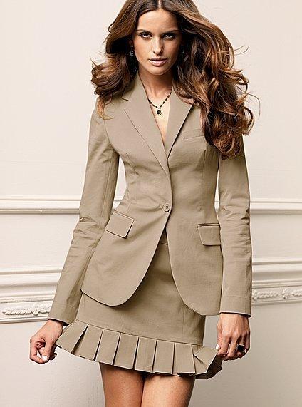 One-button blazer in stretch cotton