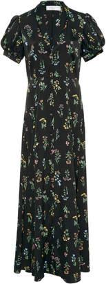 Caroline Constas Floral-Print Crepe De Chine Maxi Dress