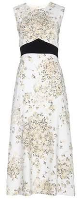 Giambattista Valli Printed crêpe dress with appliqué