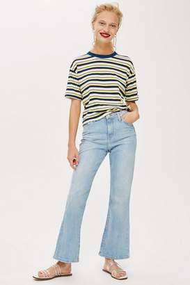 Topshop MOTO Bleach Dree Cropped Jeans