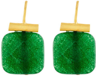 Catherine Canino Faceted Green Quartz Earrings
