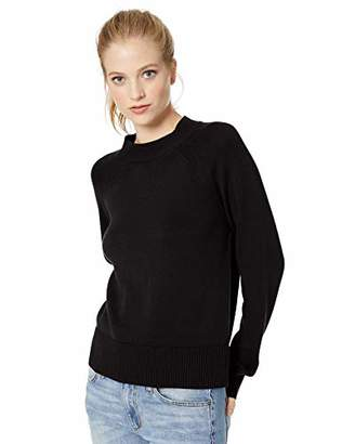 Daily Ritual Women's 100% Cotton Mock-Neck Sweater