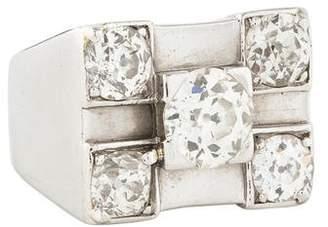 Ring Platinum Old European Cut Diamond