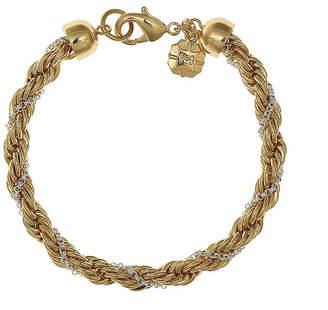 MONET JEWELRY Monet Gold-Tone and Silver-Tone Twist Flex Chain Bracelet