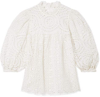 Ulla Johnson Lenna Broderie Anglaise Cotton Blouse - White