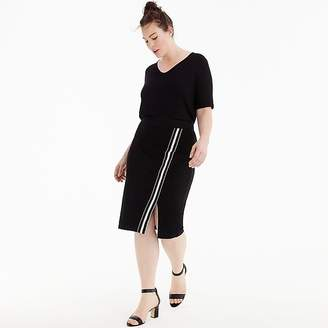 J.Crew Universal Standard for French terry slit skirt with track stripe