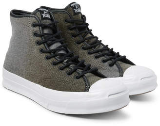 Converse Woolrich Jack Purcell Signature Wool High-Top Sneakers