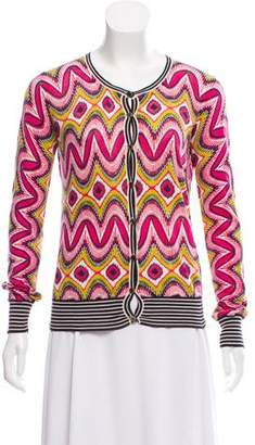 Tory Burch Patterned Button-Up Cardigan