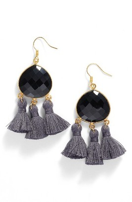 Women's Love's Affect Lacey Semiprecious Stone Tassel Earrings $58 thestylecure.com