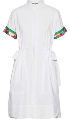 Emilio Pucci Printed Silk Twill-Trimmed Cotton-Blend Shirt Dress