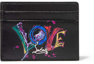 Christian Louboutin Printed Leather Cardholder - Black