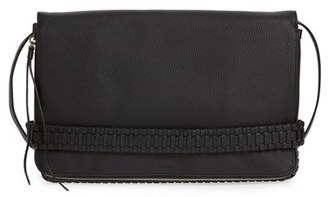ALLSAINTS 'Club' Convertible Leather Foldover Clutch with Hand Strap $278 thestylecure.com