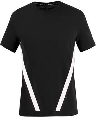 BLACKBARRETT by NEIL BARRETT Striped-detail cotton-blend T-shirt