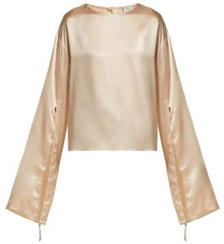 Hillier Bartley Gathered Sleeve Silk Blouse - Womens - Ivory