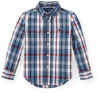 Ralph Lauren Little Boy's Madras Cotton Collared Shirt