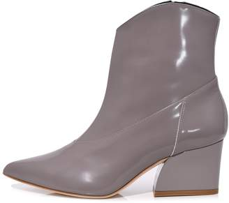 Tibi Dylan Polished Calf Boot in Cement