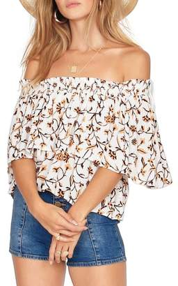 Amuse Society In Your Dreams Off the Shoulder Top