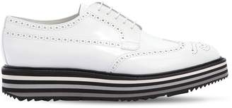 Prada Opposite Brushed Leather Derby Shoes