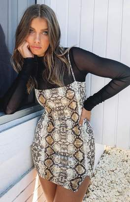 Beginning Boutique Mikala Bodycon Dress Snake