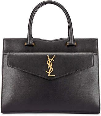 Saint Laurent Medium Uptown Monogramme Bag in Black | FWRD