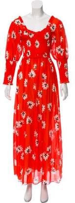 Ganni Printed Maxi Dress w/ Tags